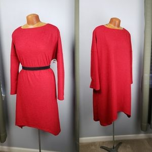 Go Couture oversized red tunic dress small